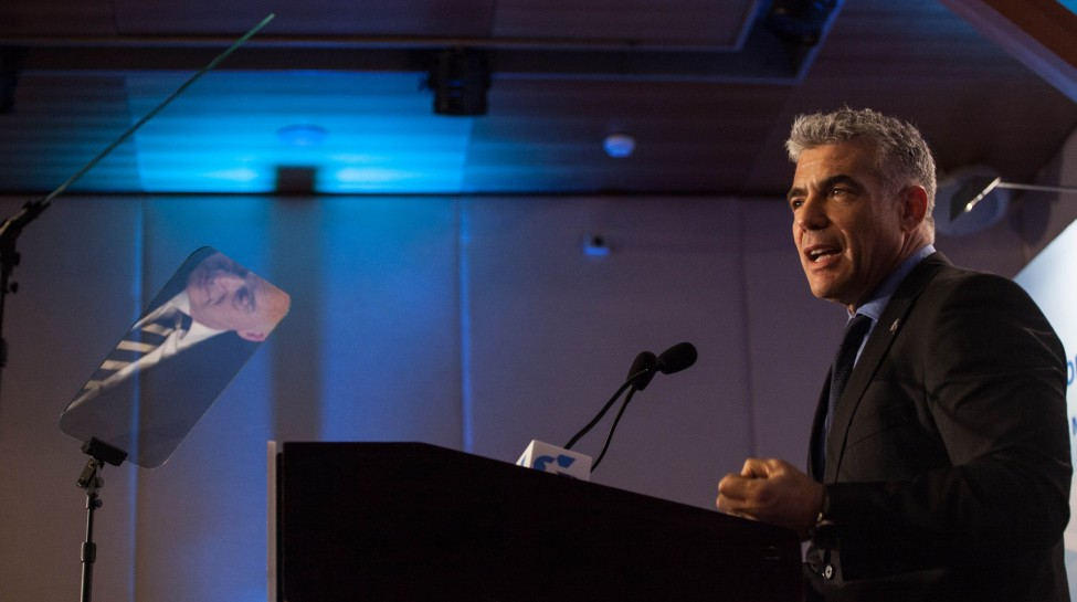 Yair Lapid, chairman of the Yesh Atid party. Photo: Flash 90