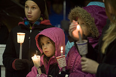 Memorial vigil in Newtown, Conn.