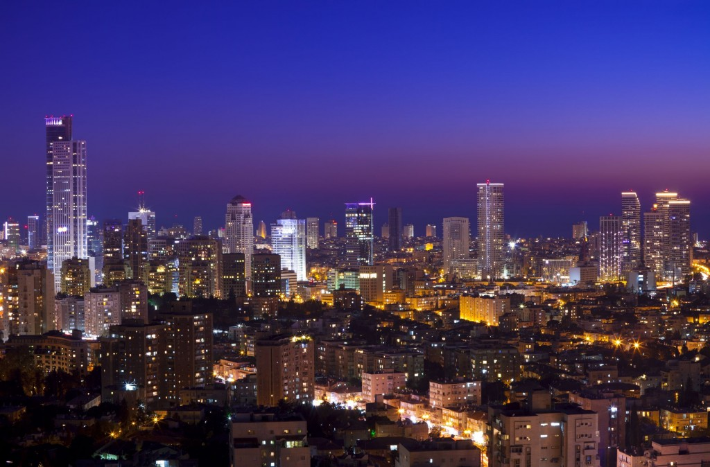 The Israeli juggernaut. Tel Aviv at sunset. Photo: slidezero/123RF Stock Photo