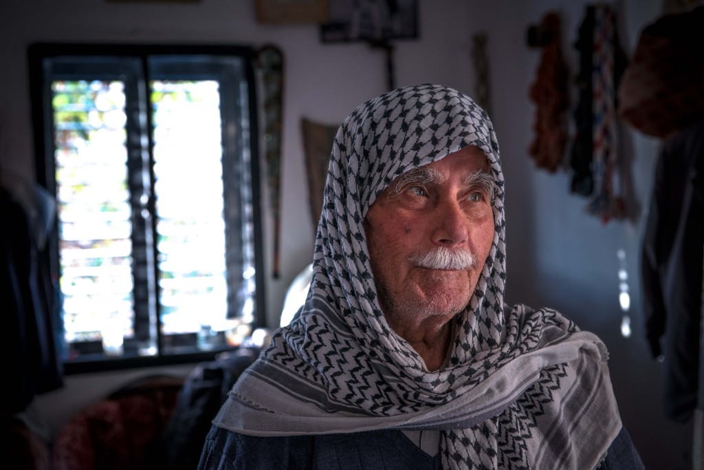 An older Arab resident of Shfaram. Photo: Aviram Valdman