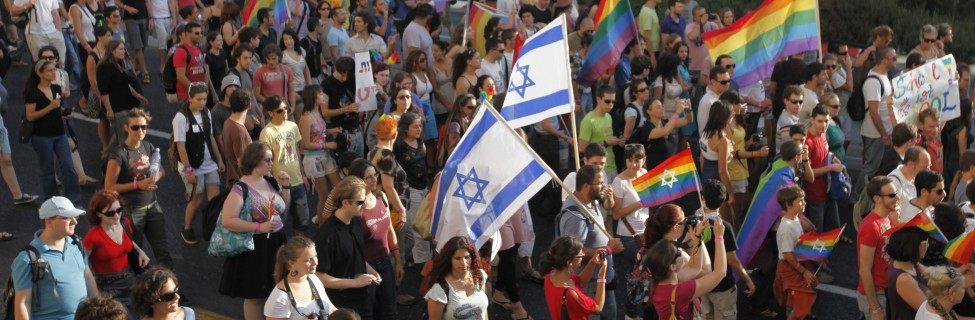 Gay pride in Jerusalem. Photo by Miriam Alster/FLASh90