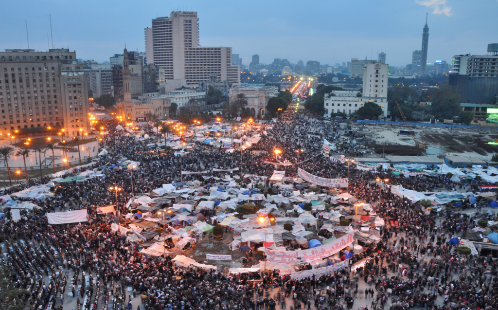 Tahrir Square, February 2011. Photo: Jonathan Rashad