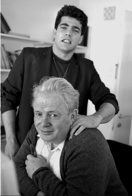 Father and Son, in the 1980s. Photo: Moshe Shai/Flash90