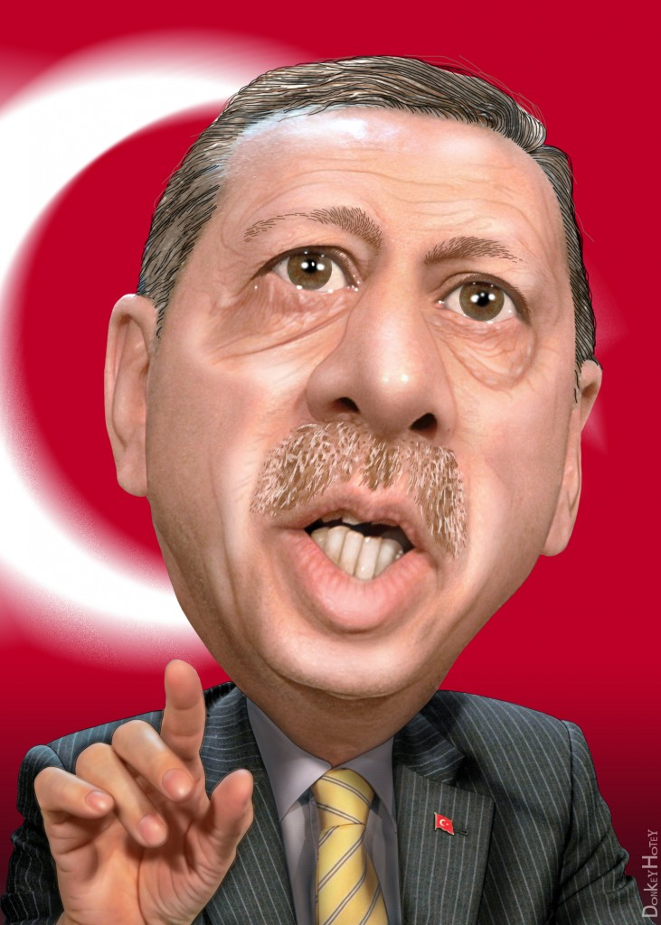 Erdogan. Illustration: DonkeyHotey/Flickr