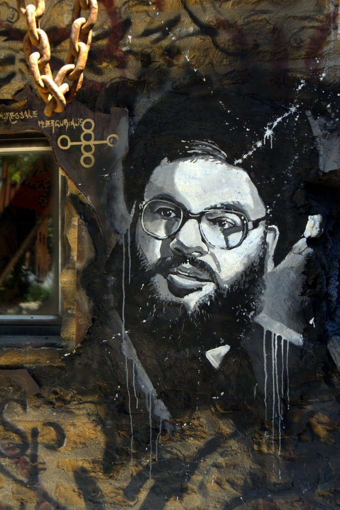 Hezbollah's Hassan Nasrallah decorates an art museum in Lyon, France. Photo: Abode of Chaos/Flickr