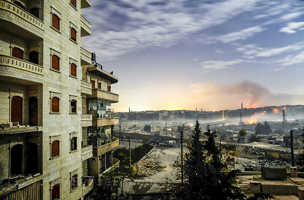 Smoke rises over Aleppo, December 2012. Photo: Javier Manzano/AFP/Getty/flickr