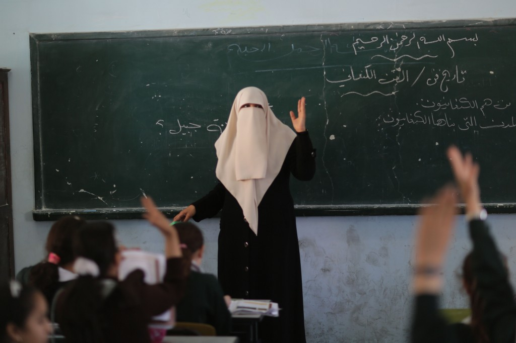 Do Palestinian teachers prepare children for coexistence? Lessons in Gaza. Photo: Wissam Nassar/Flash90