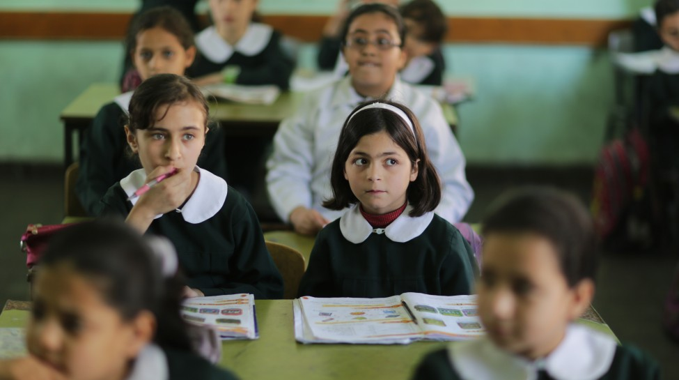 Palestinian schoolchildren in Gaza City. Photo: Wissam Nassar/Flash90