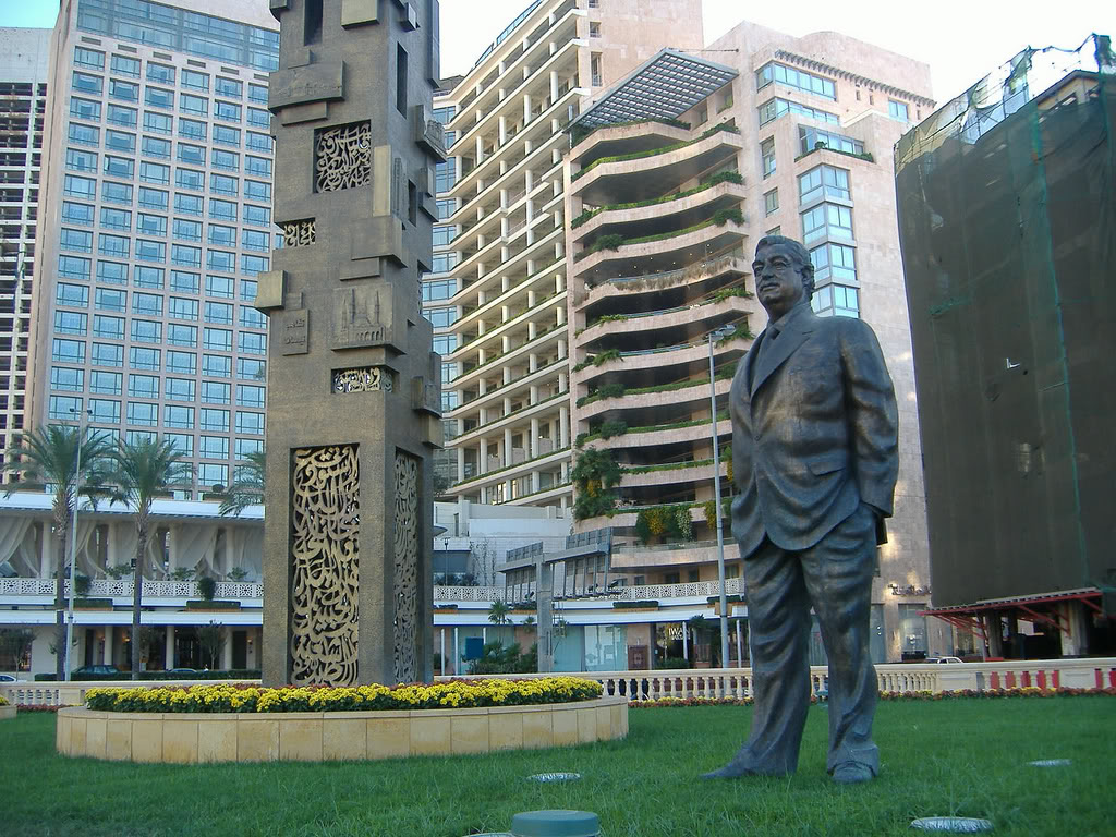 Memorial for the assassinated Prime Minister Rafik Hariri. Photo: Wikimedia