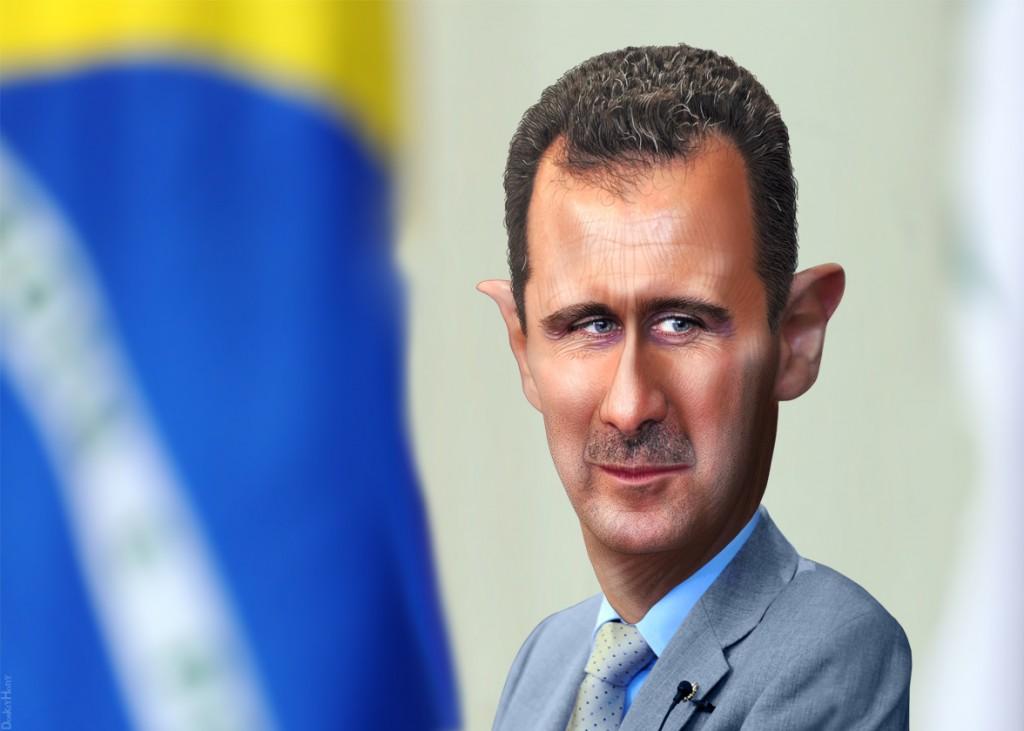 Syrian President Bashar Assad. Illustration: donkeyhotey/flickr