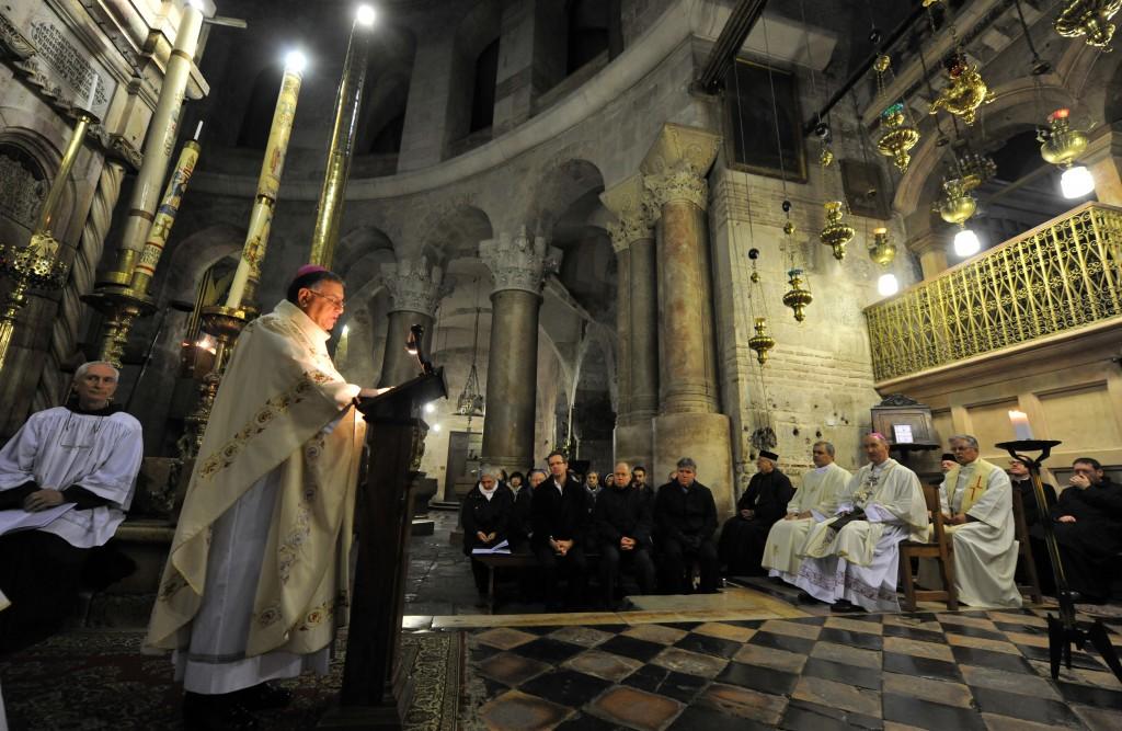 Solemn Mass in the Holy Sepulchre. Photo: Mazur/catholicchurch.org.uk