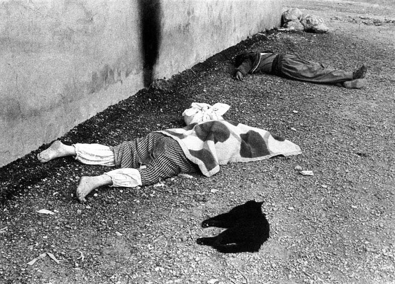 Iraqi Kurds massacred in chemical gas attack in Halabja, 1988. Photo: Sayeed Janbozorgi / Wikimedia