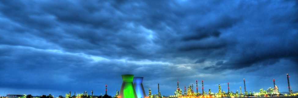 Oil refineries in Haifa by night. Photo: Shay Levy / Flash90