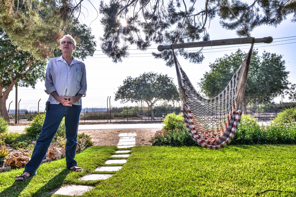 Shlomo Margalit of Kibbutz Nir Oz. Photo: Aviram Valdman / The Tower