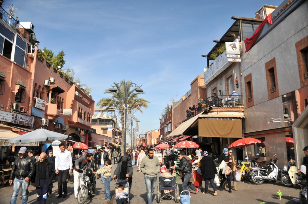 Downtown Marrakech. Photo: Michael J. Totten