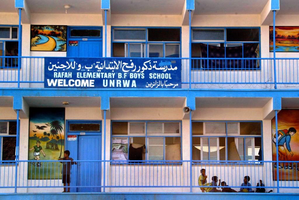 UNRWA school in Rafah. Photo: Ahmad Khateib / Flash90