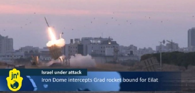 iron dome intercepts eilat rocket 678