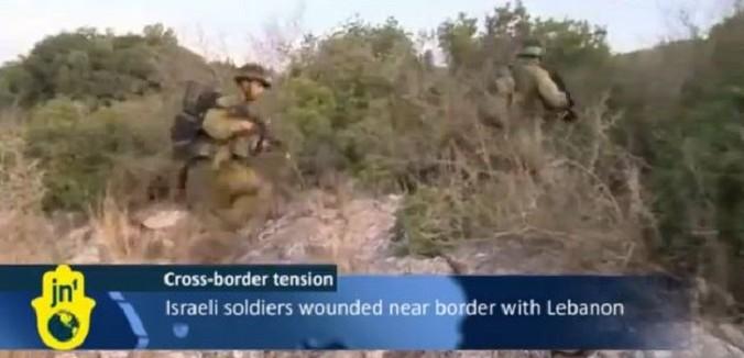israeli soldiers wounded on lebanon border 678