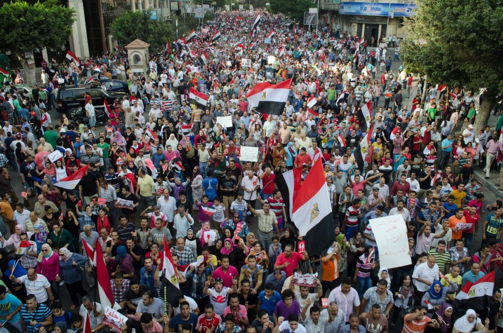Egyptians demonstrate against Morsi in Alexandria, June 30, 2013. Photo: mhanno / 123rf