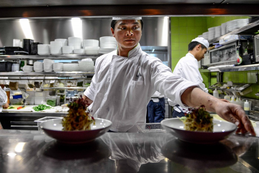 Zepra's kitchen bustles. Photo: Aviram Valdman