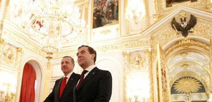 Dmitry Medvedev and Recep Tayyip Erdoğan
