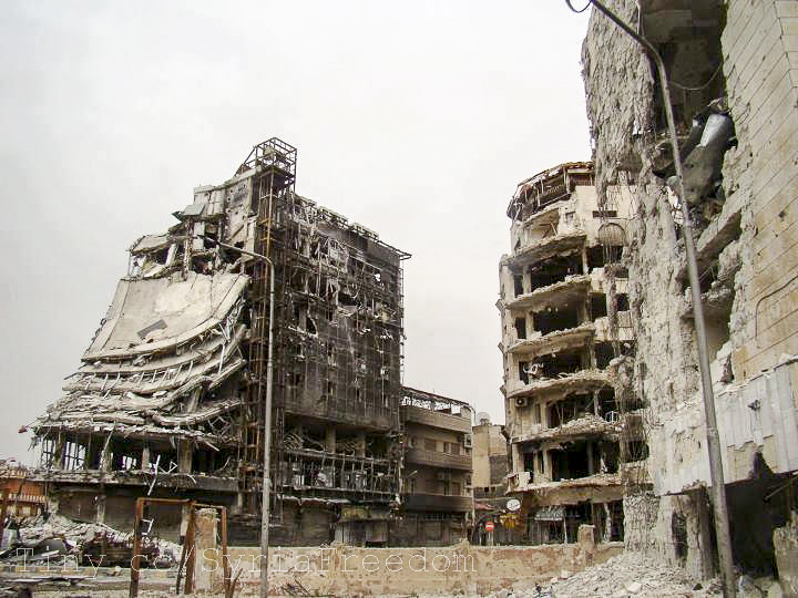 Destruction of Homs, Syria. Israel's most fearsome Arab enemy tears itself apart. Photo: Freedom House / flickr