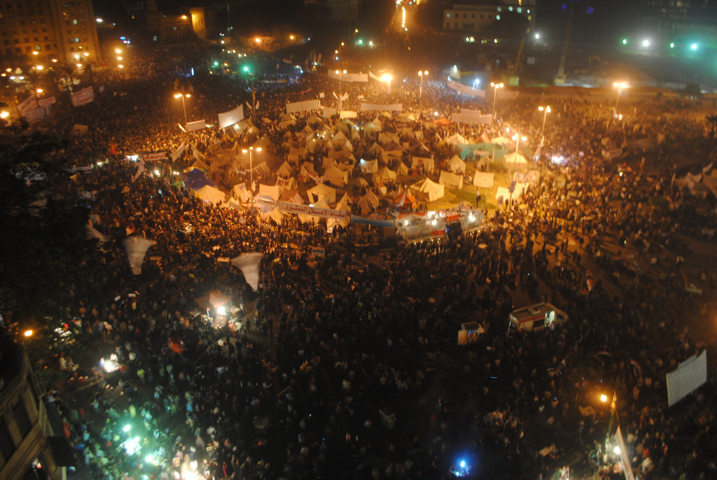 Hundreds of thousands protest against the Morsi government in Tahrir Square, Cairo, November 2012. Photo: Wikimedia