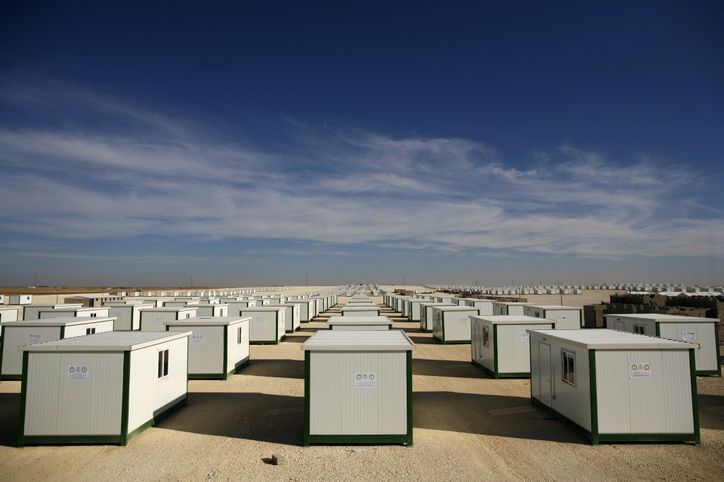 Thousands of temporary shelters installed inthe  Zaatari refugee camp in Jordan. Photo: Brian Sokol / UNHCR