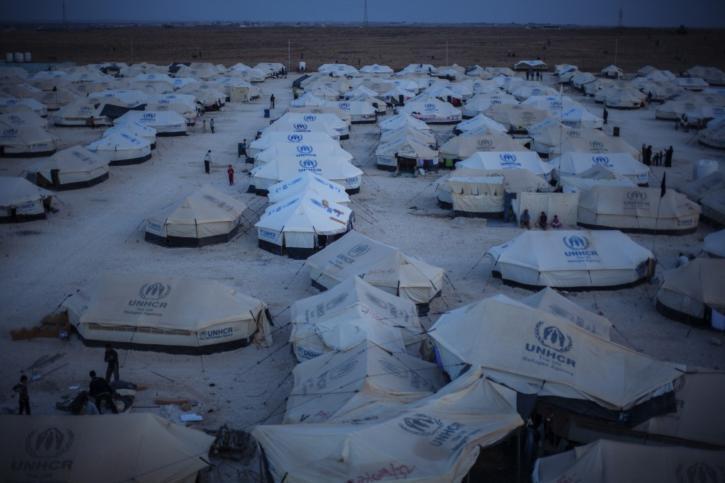 Za'atari refugee camp, Jordan. Photo: Brian Sokol / UNHCR
