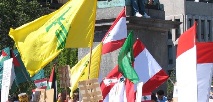 hezbollah lebanon flags