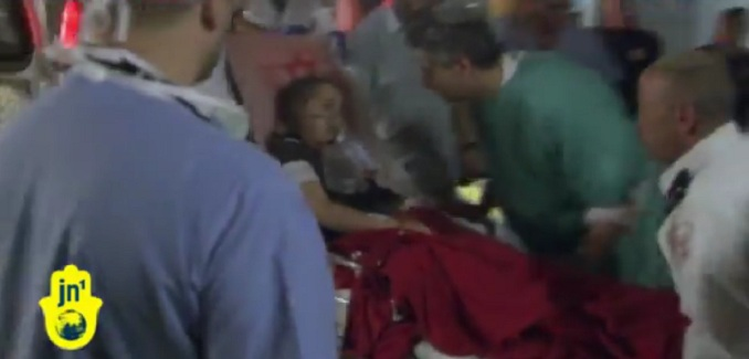 Palestinian terror attack on nine year old girl
