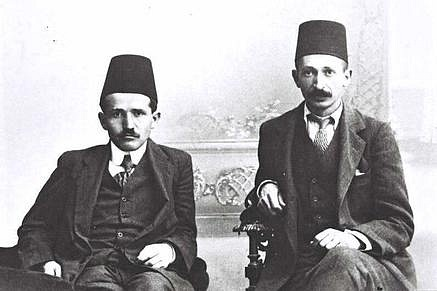 Yitzhak Ben-Zvi and David Ben-Gurion, Istanbul, 1912. Photo credit: Zooro-Patriot / Wikimedia