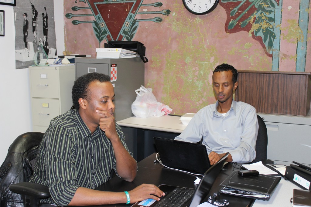 Mohamed Farah and Abdimalik Mohamed of Ka Joog. Photo: Aiden Pink / The Tower