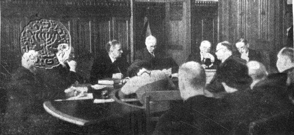 Jabotinsky testifying before the Peel Commission. Photo courtesy of the Jabotinsky Institute.