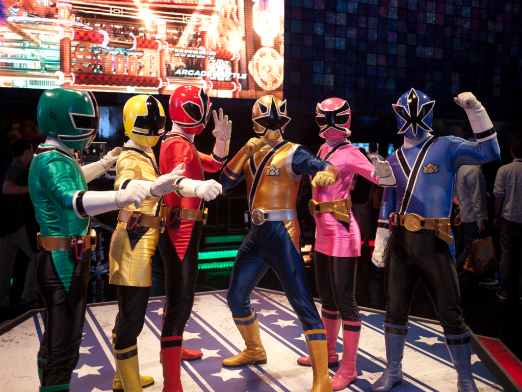 The Japanese TV show Super Sentai was adapted for American audiences as Power Rangers by Haim Saban, an Israeli-American. Depending on how you count, there have been at least 17 different Power Rangers TV series in the U.S. Photo: ze_bear / flickr