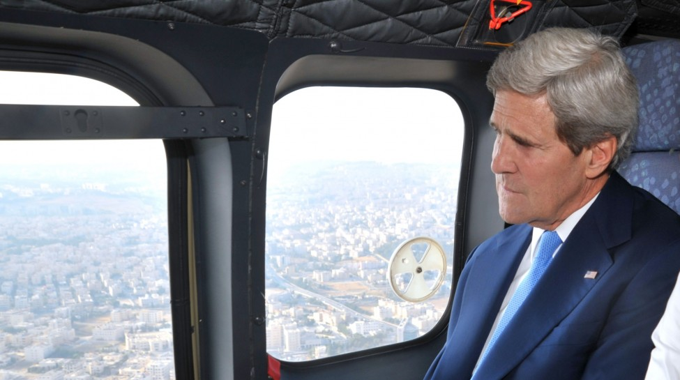 Secretary_Kerry_and_Deputy_Special_Envoy_Lowenstein_Fly_From_Amman_to_Ramallah CROPP{ED