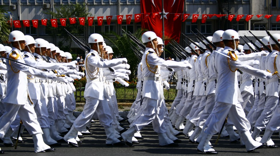 A military parade on Turkish Victory Day. Photo: Nerostrateur / Wikimedia