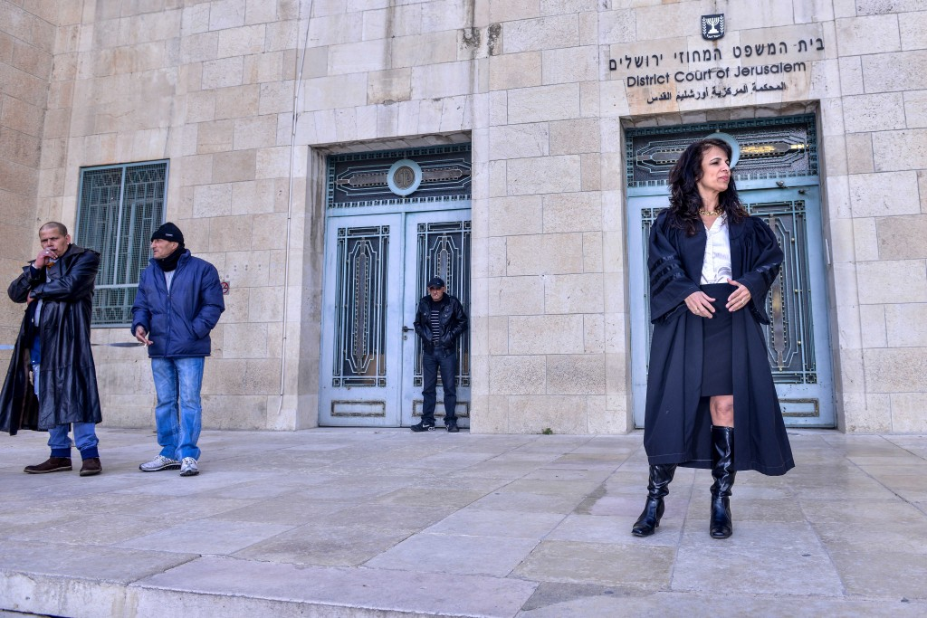 Nitsana Darshan-Leitner in front of the District Court in Jerusalem. Photo: Aviram Valdman / The Tower