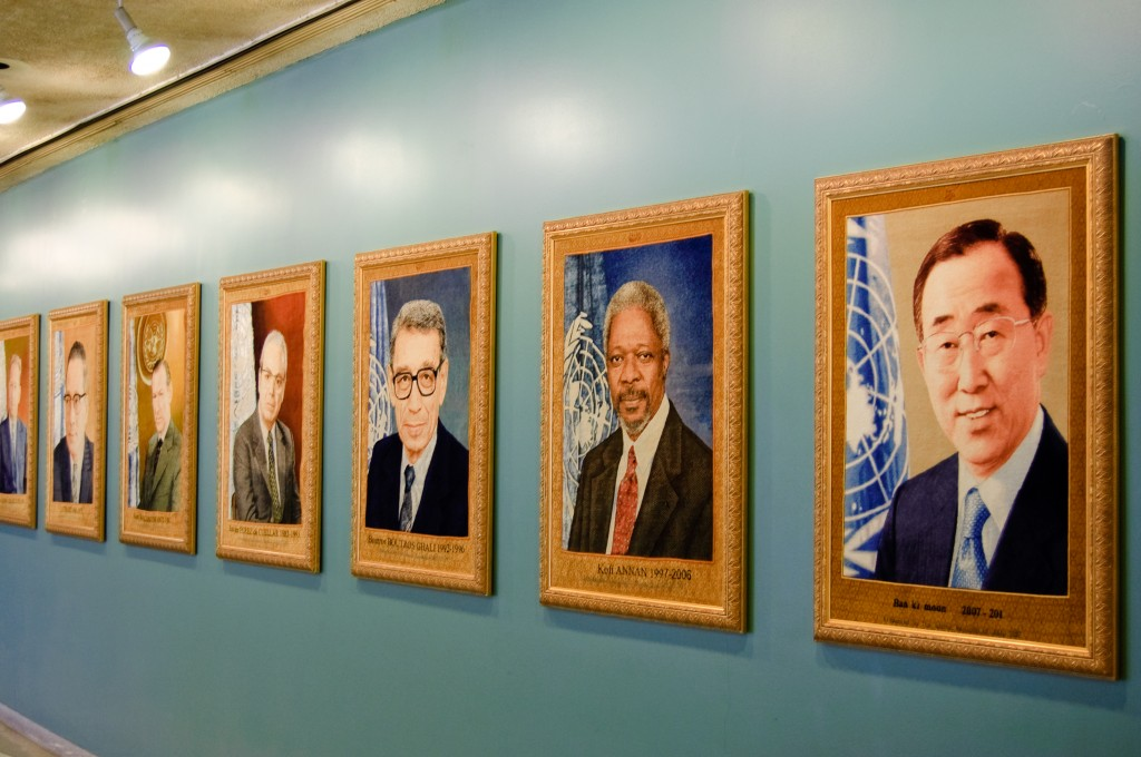 These tapestries of the UN's Secretary-Generals, which hang at its headquarters in New York, were donated by the Islamic Republic of Iran. Photo: Kirill Levin / flickr