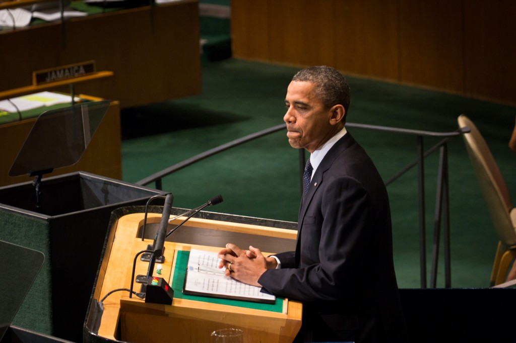 President Obama, speaking at the UN General Assembly in 2012, is perhaps frustrated that his government's munificent funding of the organization isn't leading to pro-U.S. outcomes. Photo: John Gillespie / flickr
