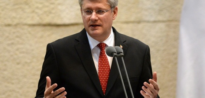 Canadian Prime Minister addressing the Knesset today. Photo: Sean Kilpatrick/The Canadian Press