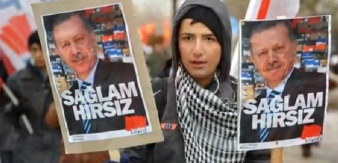 erdogan protestor