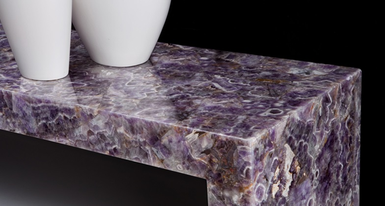 An amethyst-quartz table from Caeserstone.