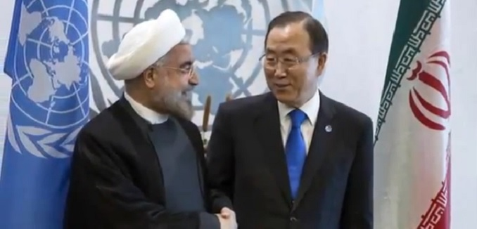 Rouhani and Ban ki-moon