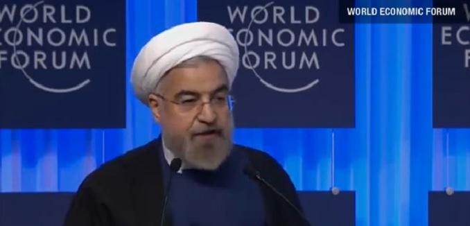Rouhani at Davos 2