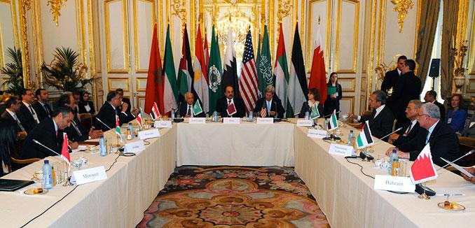 20140324_Arab_League_Kerry_meet_Paris_(State_Dept)