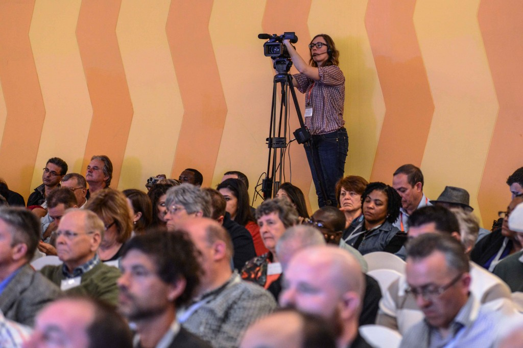 The Christ at the Checkpoint conference was livestreamed to a global audience. Photo: Aviram Valdman / The Tower