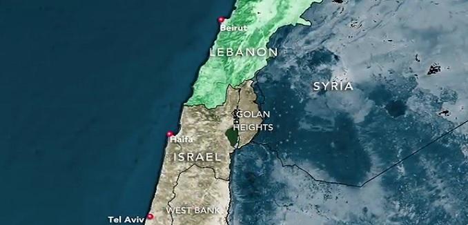 israel lebanon map