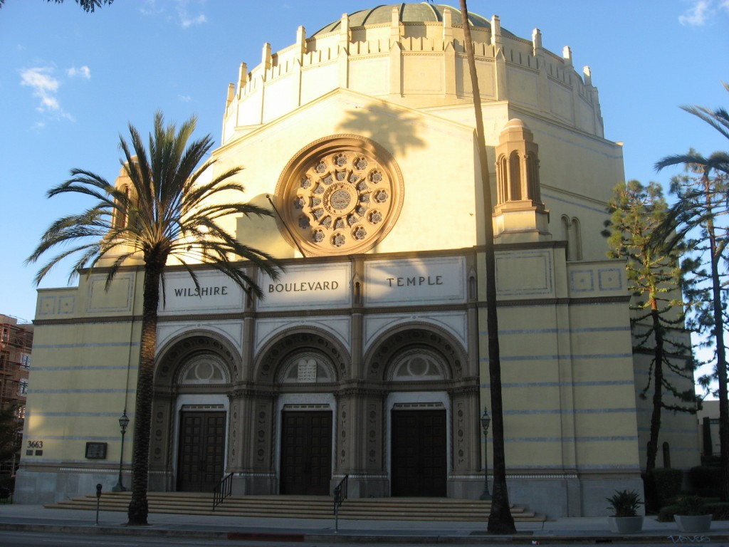 Wilshire Boulevard Temple is the oldest synagogue in Los Angeles, and is listed on the National Register of Historic Places. Photo: Downtowngal / Wikimedia