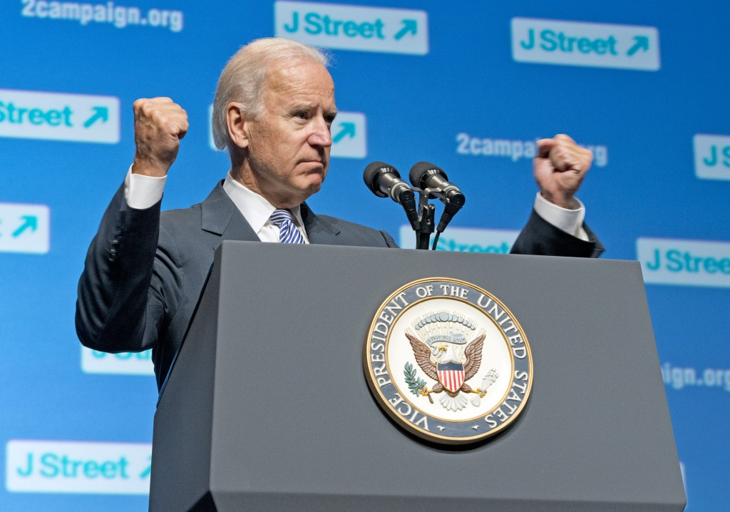 Vice President Joe Biden speaking at the 4th National J Street Conference, September 30, 2013. Photo: Ron Sachs / flickr